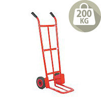 Builders Hand Truck Red Capacity 200Kg With Rubber Wheels 329059
