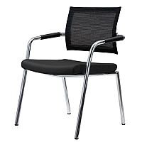 Mesh Back Boardroom Chair With Chrome Frame