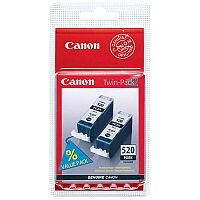 Canon PGI-520 BK ( 2932B012 ) Black Ink Cartridge Original Pack of 2 - for PIXMA iP3600, iP4700, MP540, MP550, MP560, MP620, MP630, MP640, MP980, MP990, MX860, MX870