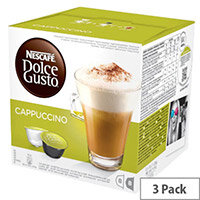 Nescafe Classic Cappuccino for Dolce Gusto Machine Capsules - Makes 24 Drinks Rich and Bold Aromas of an Intense Espresso the Smooth Taste and Frothy Texture of Whole Milk