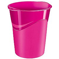 CEP Pro Gloss Office Waste Desk Bin Pink 14L