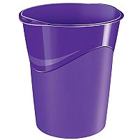 CEP Pro Gloss Office Waste Desk Bin Purple 14L