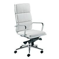 Aria C High Back Designer Leather Office Armchair White CH1