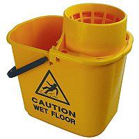 Mop Bucket Wringer 15 Litre Yellow