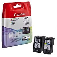 Canon PG-510 & CL-511 (2970B010) 4 Colours: Black, Cyan, Magenta, Yellow Ink Cartridge Original Pack of 2 Capacity 220+ Pages