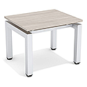 Reception Coffee Table Arctic Oak Top & Silver Frame W600xD500xH460