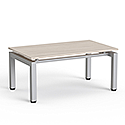 Rectangular Reception Coffee Table Arctic Oak Top & Silver Frame W1000xD600xH460
