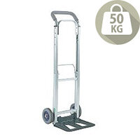 Compact Folding Hand Truck Silver Capacity 90Kg 313195