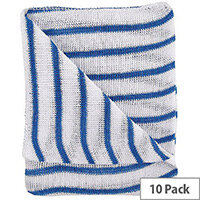 Hygiene Cloth 16x12 Blue/White Dishcloths Pack of 10 HDBU1610P