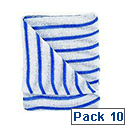 Contico Hygiene Cloth 16x12 Blue/White Pack of 10 HDBU1610P