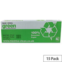 Maxima Blue 1 Ply Z-Fold Paper Hand Towels 200 Sheets Per Sleeve 15 Sleeves (3000 Towels)