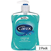 Carex Antibacterial Original Liquid Handwash Soaps 500ml (Pack 2) KJEYS5002