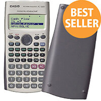 Casio Financial Calculator FC-100V-UM - 4 Line, 12 Digit Display - Battery Powered - Silver