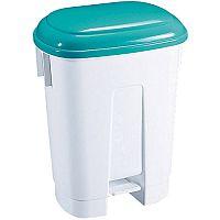 Derby Plastic Pedal Waste Bin 30 Litre White/Green 348024