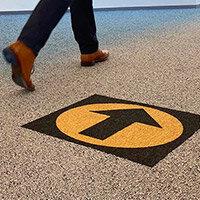 Desso Icons Wayfinding Carpet Tiles 50x50cm Black Arrow