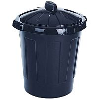 Dustbin 80 Litre Black - Heavy duty dustbin - Comes with tight fitting, removable lid - Made from waterproof, wipe clean plastic - Suitable for both indoor and outdoor use