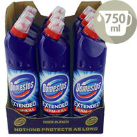 Domestos Original Bathroom Disinfectant Thick Bleach 750ml Pack 9