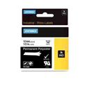Dymo Rhino Permanent Polyester Tape 12mm Black/White18483