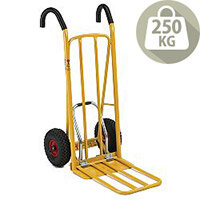 Easy Tip Truck Yellow Capacity 250Kg with Pneumatic Wheels 382850