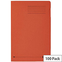 Elba Square Cut Folder Recycled Heavyweight 290gsm Foolscap Orange 20316 Pack 100