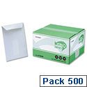 Ecolabel C5 Recycled Envelopes Window Pocket Press Seal White 273246 Pack 500