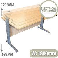 Electric Height-Adjustable Standing Desk W1800 x D800 x H685-1205 Beech