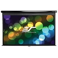 "Elite Manual Wall Projection Screen 203.7cm x 114cm Viewing Area 92"" Diagonal 16:9"