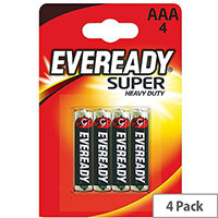 Eveready Batteries Silver AAA Pack of 4 RO3B4UP