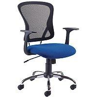 Arista Contemporary Design Mesh Back Office Chair Blue & Black