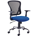 Arista Contemporary Design Mesh Back Office Chair Blue & Black