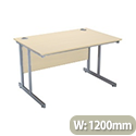 Jemini Intro 1200mm Rectangular Cantilever Desk Maple