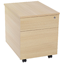 Jemini Intro 2-Drawer Mobile Pedestal Warm Maple