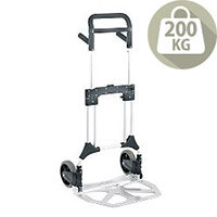 Folding Aluminium Hand Truck With Rubber Wheels Capacity 200kg 380090