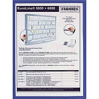 Franken Document Holder Magnetic Din A4 5-pieces Blue ITSA4M/5  03