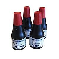 Franken Indian Ink Refill Cartridge Red Pack 4