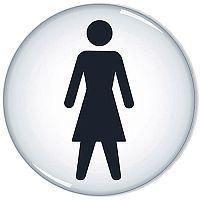 General Domed Sign Women Symbol 60mm