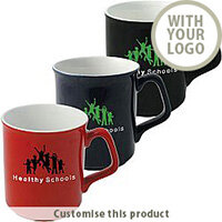 Glazed Sparta Earthenware Duo Branded Promotional Mug - Customise with your brand, logo or promo text