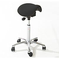 Mini Easymek Seat Saddle Stool With Easy Clean Black 3D Runner Seat Upholstery H570 - 760mm