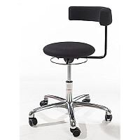 Saturn Ergonomic Stool With 360° Swivel Back-Arm Rest Black H400 - 530mm
