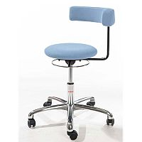 Saturn Ergonomic Stool With 360° Swivel Back-Arm Rest Blue H400 - 530mm
