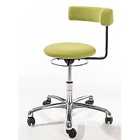 Saturn Ergonomic Stool With 360° Swivel Back-Arm Rest Green H400 - 530mm
