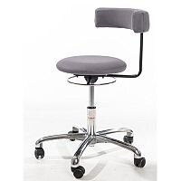 Saturn Ergonomic Stool With 360° Swivel Back-Arm Rest Grey H400 - 530mm