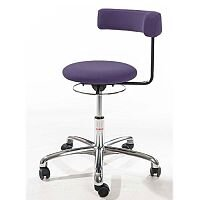 Saturn Ergonomic Stool With 360° Swivel Back-Arm Rest Purple H400 - 530mm