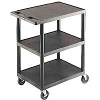 GPC 3-Shelf Service Trolley Black GI341L
