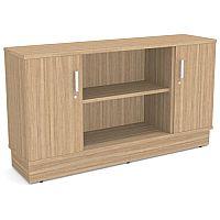 Grand 2 Door & 2 Shelf Storage & Media Credenza Cabinet Marbella