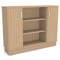 Grand Medium 2 Door & 2 Shelf Storage & Media Credenza Cabinet Marbella