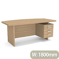 Grand Executive Office Desk With Right Side Drawers 1800mm Marbella