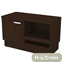 Grand Left Side Small Credenza Unit Dark Walnut