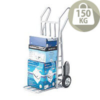 Aluminium Folding Footiron Stairclimbing Sack Truck Capacity 150kg With Rubber Wheels 309034
