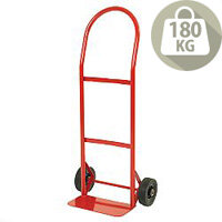 Hand Truck Red Steel Capacity 180kg Polyurethane Puncture Proof 383511